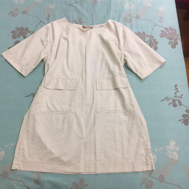 韓版雙口袋洋裝