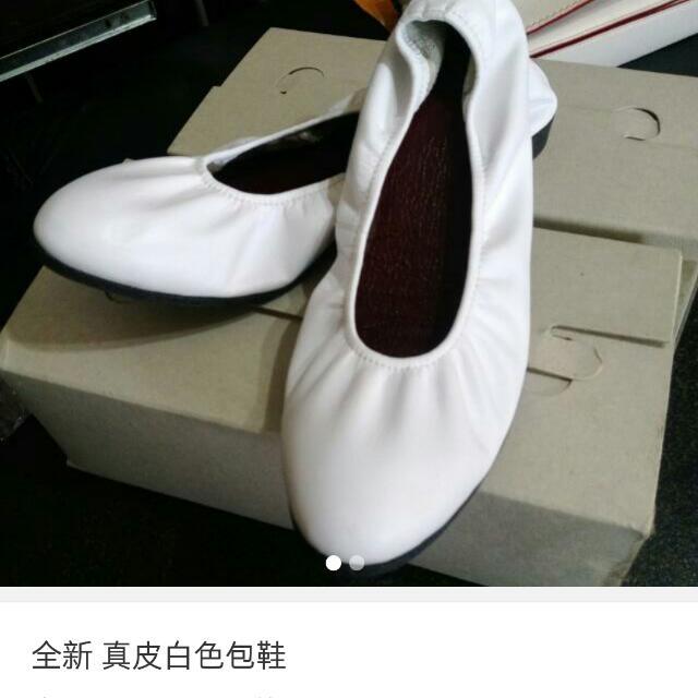 全新 白色包鞋~原本要跟別人交換 結果突然棄標嗚嗚