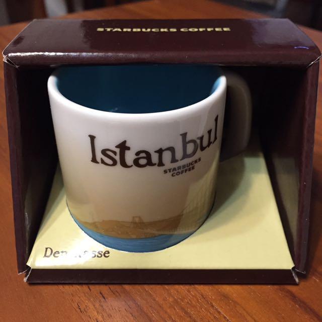 伊斯坦堡 星巴克 咖啡杯 土耳其 藍 Espresso