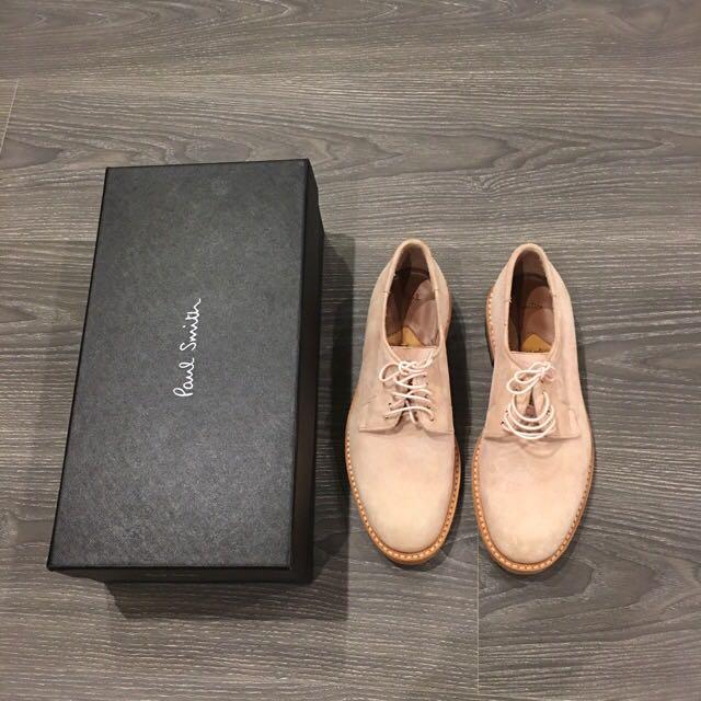 義大利購入 全新 Paul Smith 女鞋 麂皮 皮鞋 淡粉