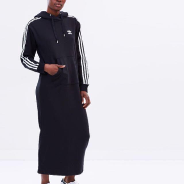 Adidas 3-stripe Hooded Maxi Dress