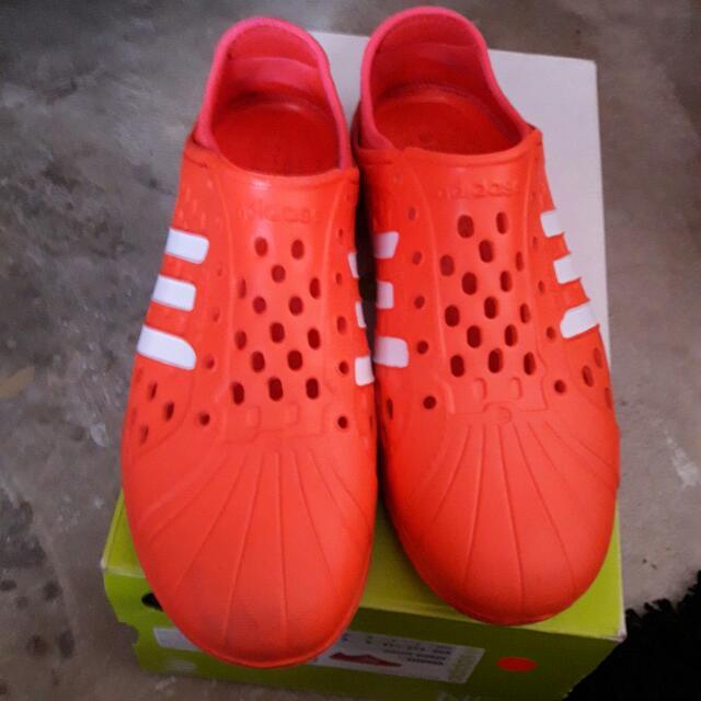 e48115911f8b8b Adidas Neo Court Adapt Slip On Shoes Orange Rubber Sandals 9UK ...