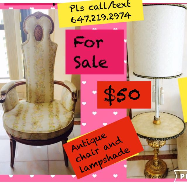Antique Chair And Lampshade