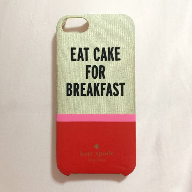 Authentic 'Eat Cake For Breakfast' Kate Spade iPhone 5/5s Hard Case