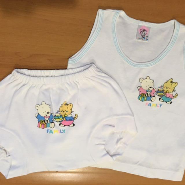 Baju Bayi Setelan Putih Unisex