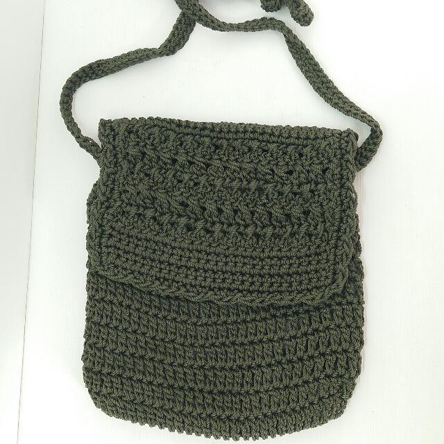 Bali Knitted Sling Bag