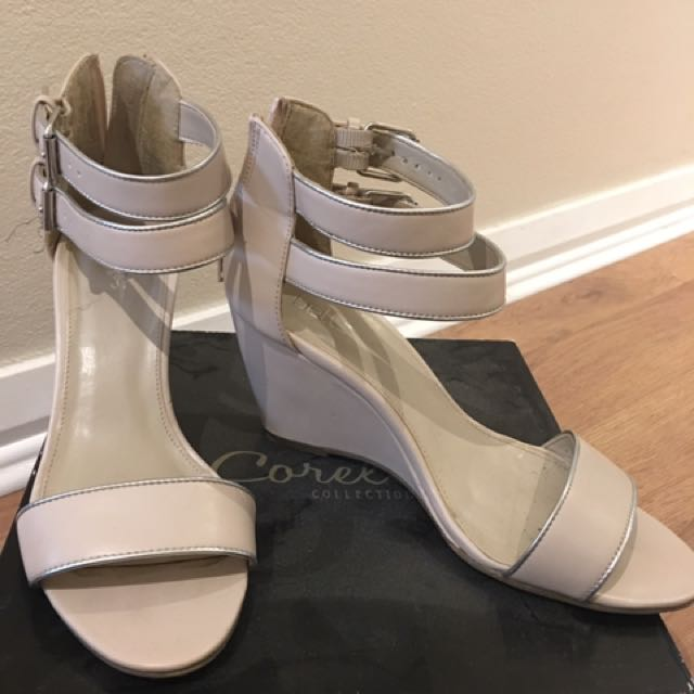 Betts Nude Strappy Wedges