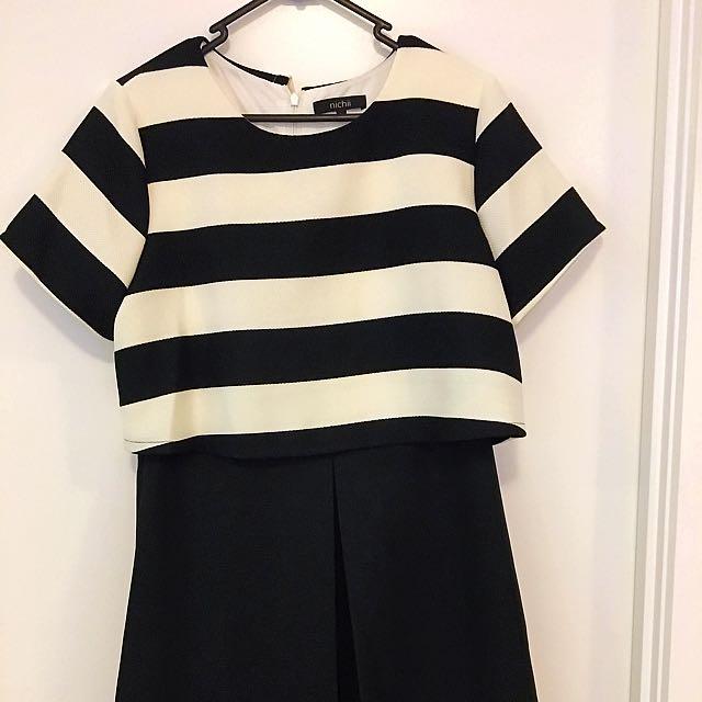 Black And White Dress SiZe L