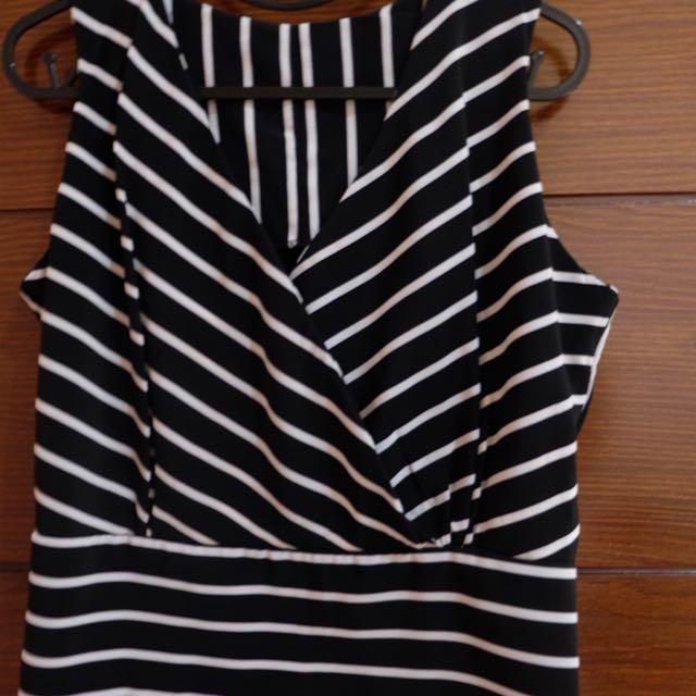 Black N White Stripes Blouse