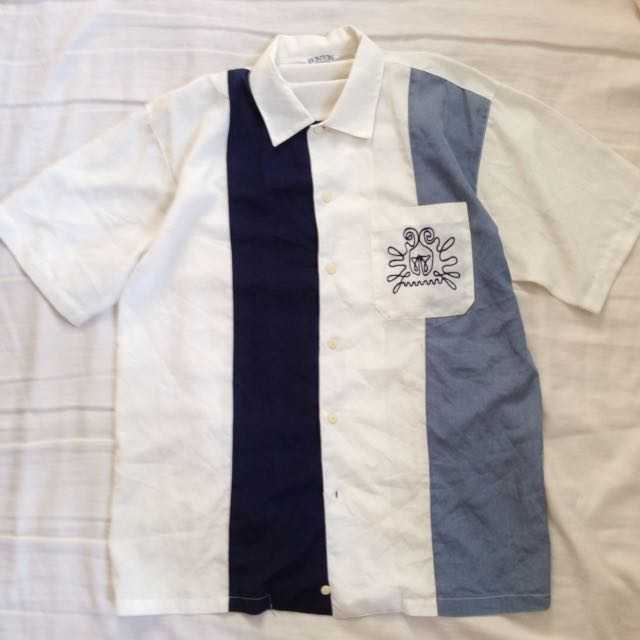 BLUE AND WHITE POLO