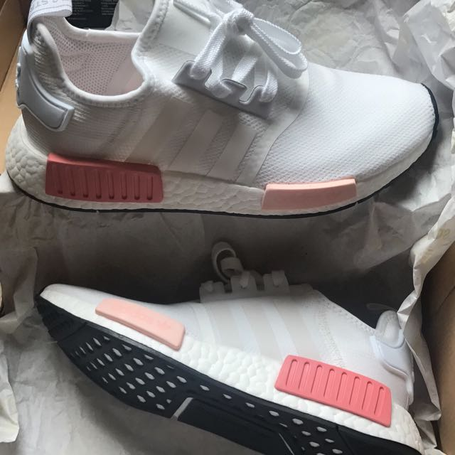 8a924ceb6 ... promo code for bn adidas nmd r1 w originals white rose pink womens  fashion shoes 71b5b