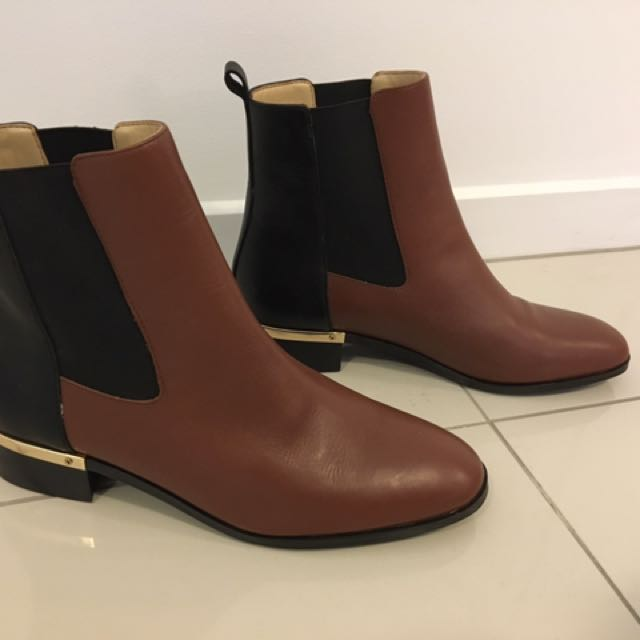 Brown And Black Leather Boots By Ivanka Trump Size 8.5