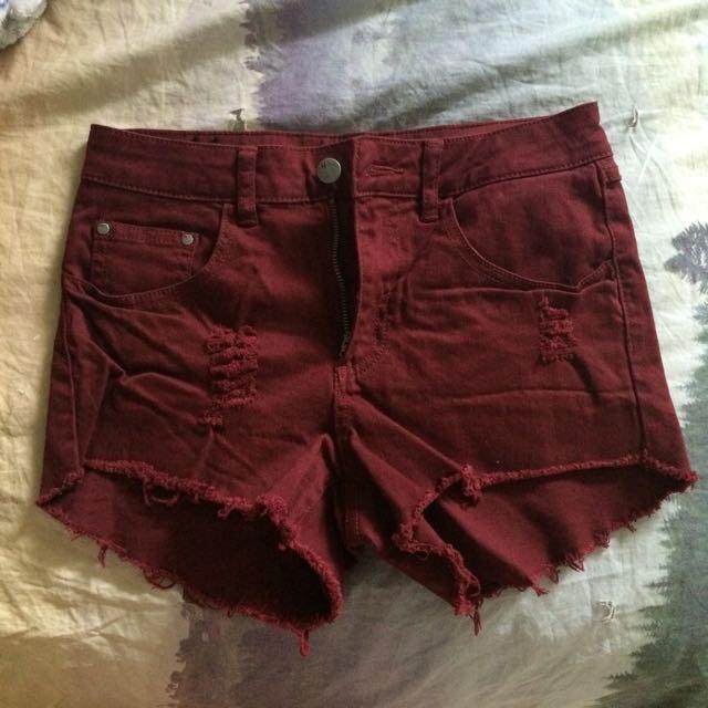 Burgundy Boathouse Shorts