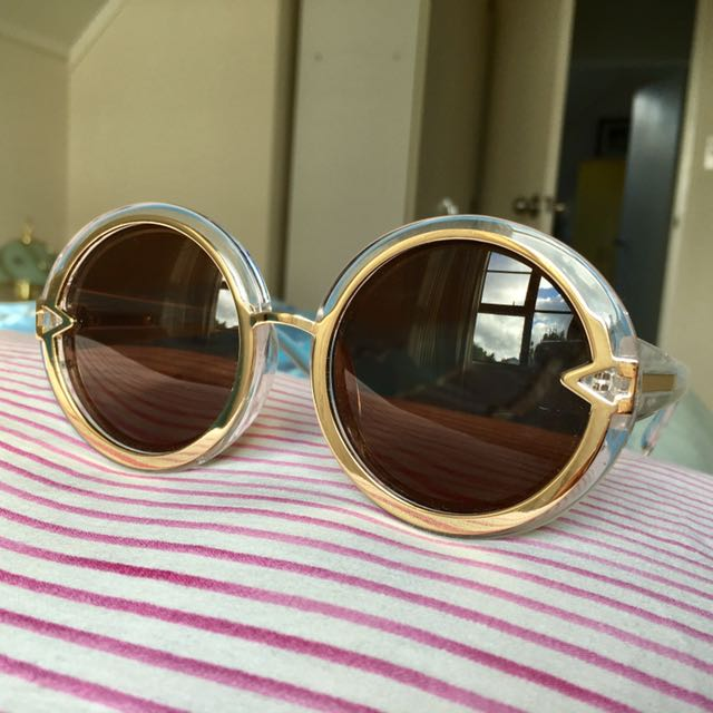 Clear Circle Sunglasses