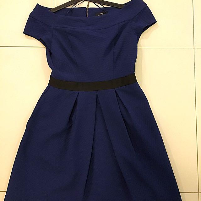 Cue Blue Dress Size 12
