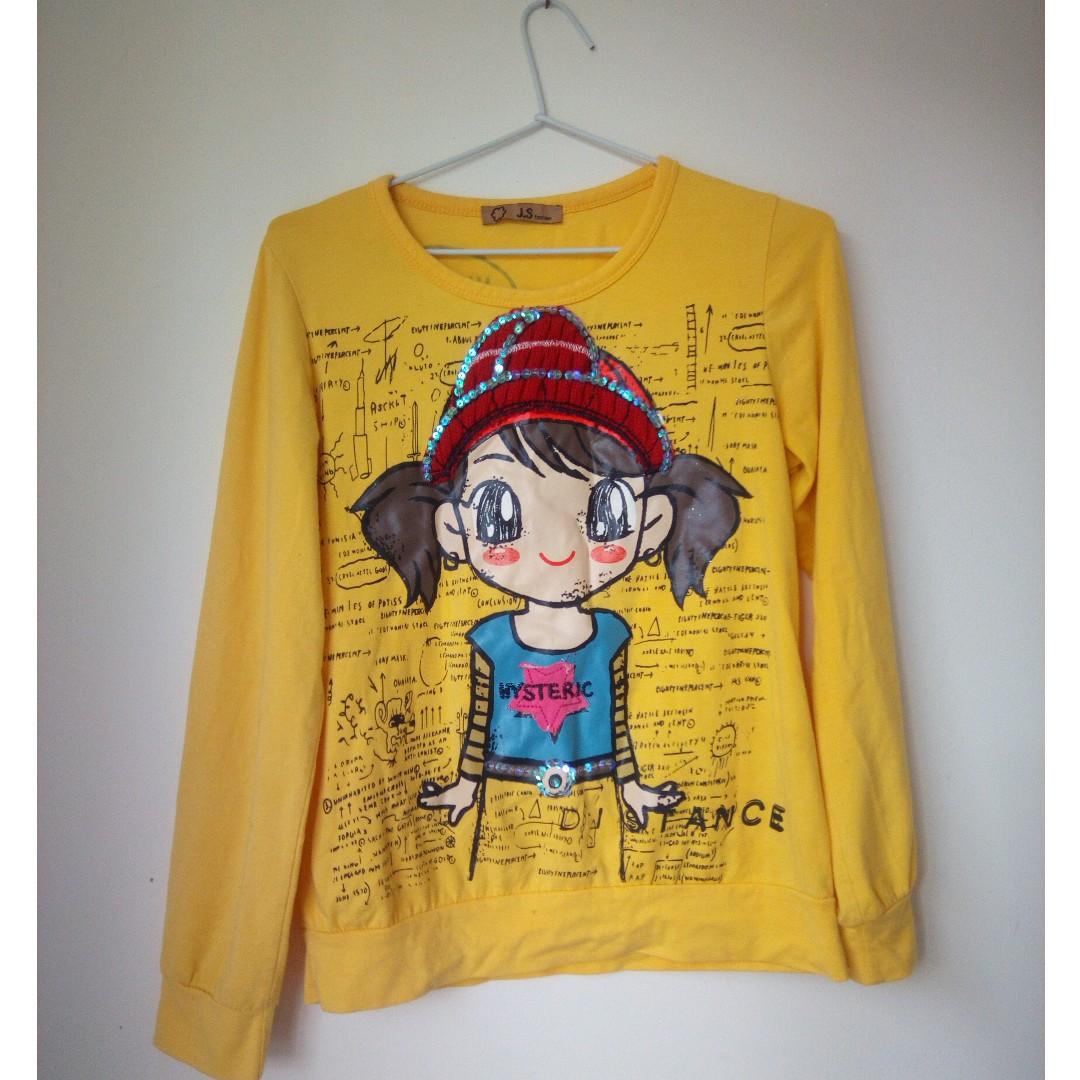 Cute anime Girl long-sleeved T-shirt