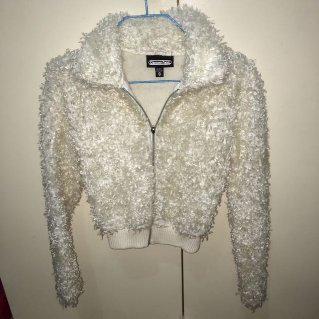 Dangerfield Cropped Furry Jacket