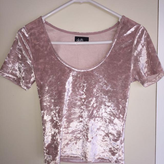 Dotti Pink Velvet Shirt