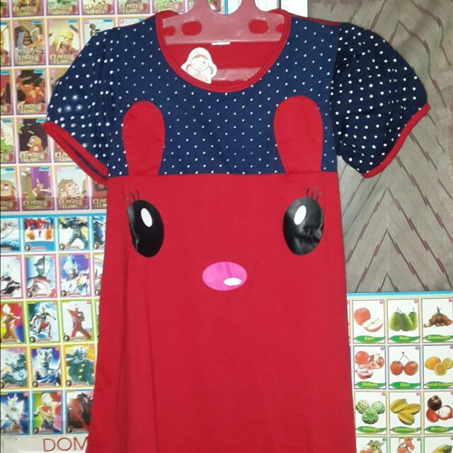 Dress Anak 2 Warna Dan Merah And Cokelat