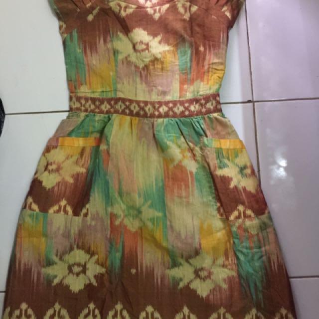 Dress Tenun By Gendhis Batik