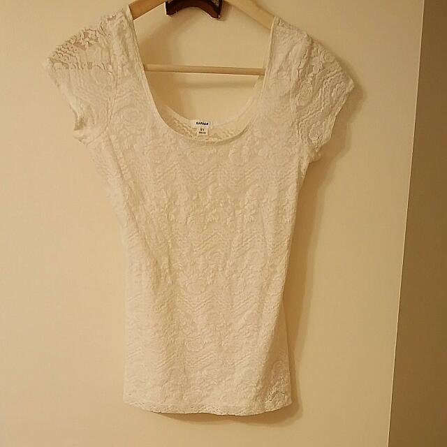 Elegant White Lace Top