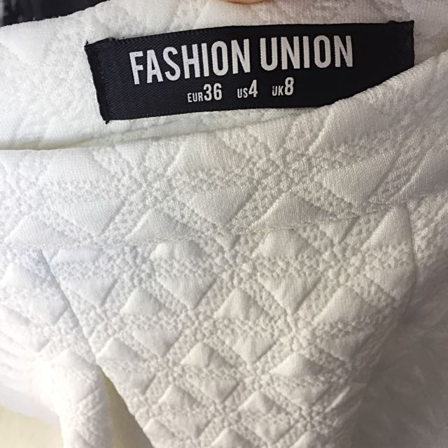 Fashion Union White Skirt With Embroidery Details