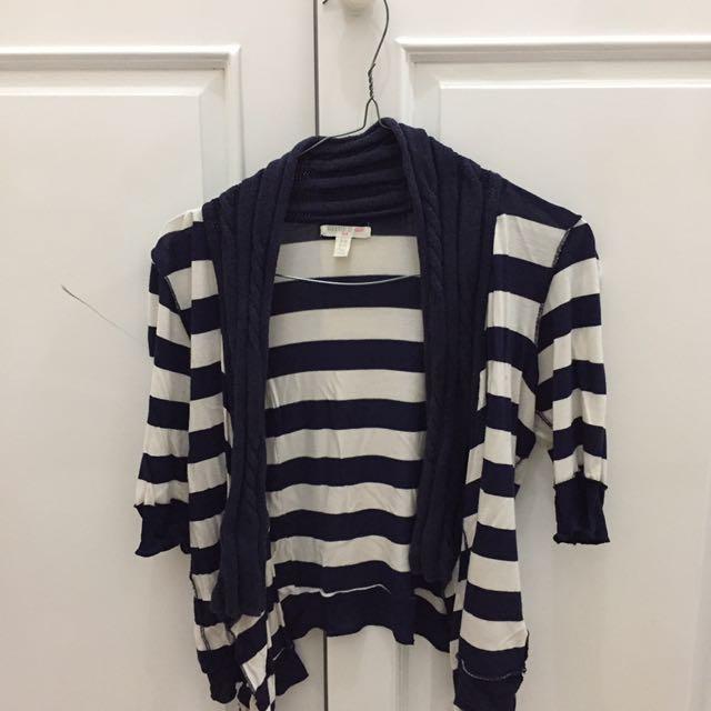 FOREVER21 Stripe Cardigan