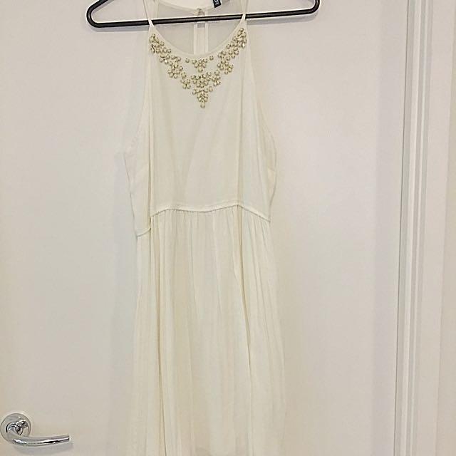 Forever New White Dress SiZe 12