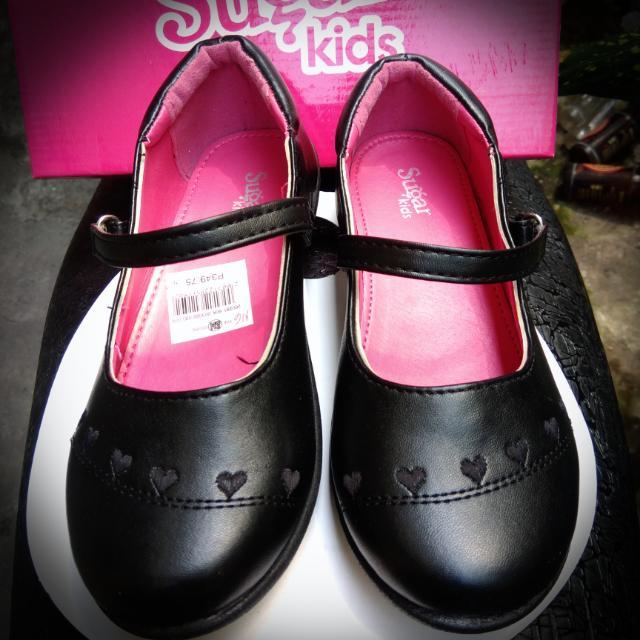 Girls school shoes black Sugar kids