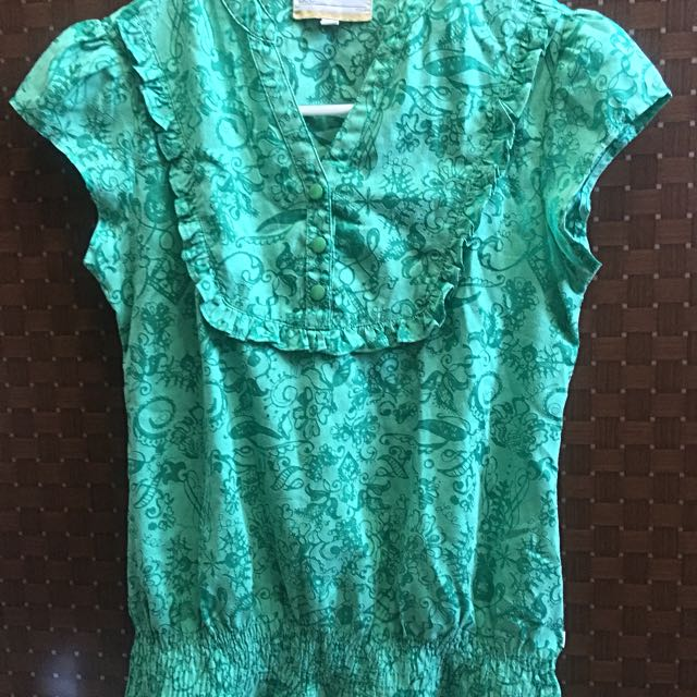Ruffle Blouse Lee (Green)