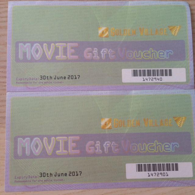 GV Movie Vouchers X2