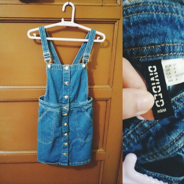 H&M Denim Jumper Skirt