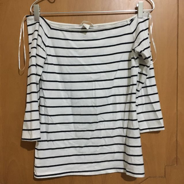 H&M Stripes Off Shoulder