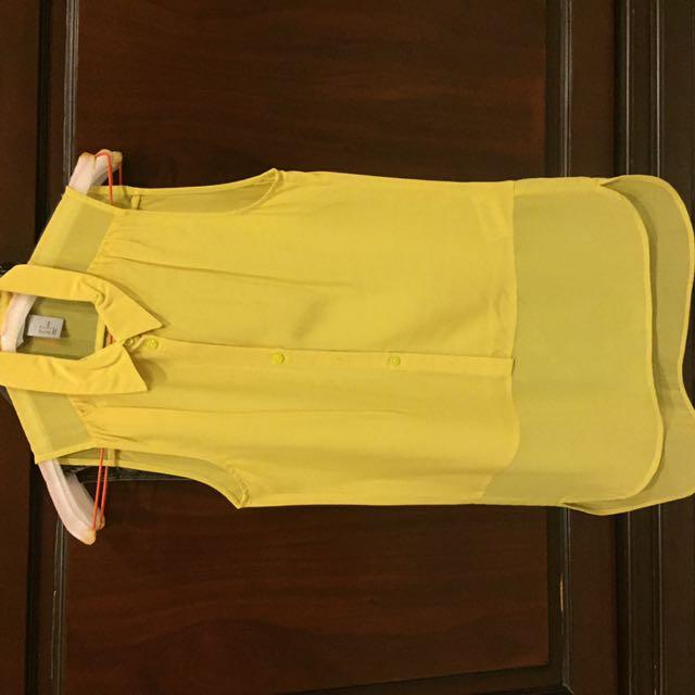 H&M Tops (yellow, grey, blue)