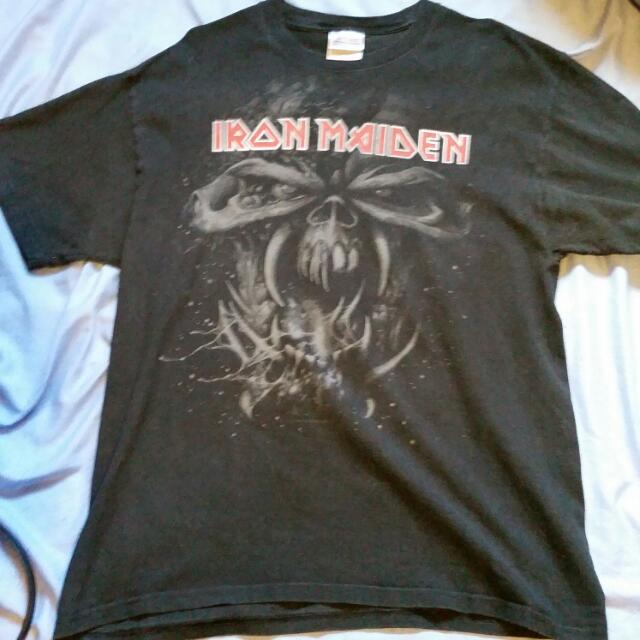 Iron Maiden Band T shirt Top Metal Size Large