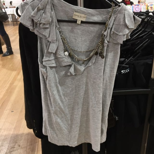 Karen Millen T Shirt With Chains