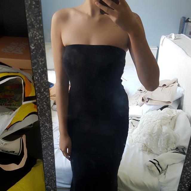 Kookai Black Boobtube Dress Size 1