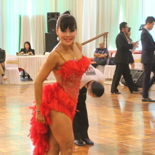 "Latin Costume ""Strawberry Red"""