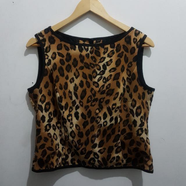 Leopard Print Sleeveless - L to XL