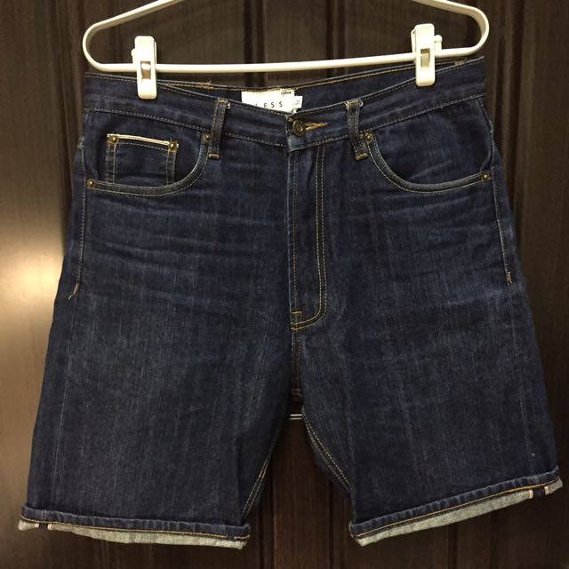 LESS - Selvage Denim Short - Standard 單寧短褲 赤耳 鎖鏈車