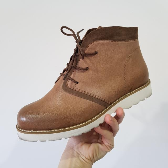 Light Tan Leather Boots