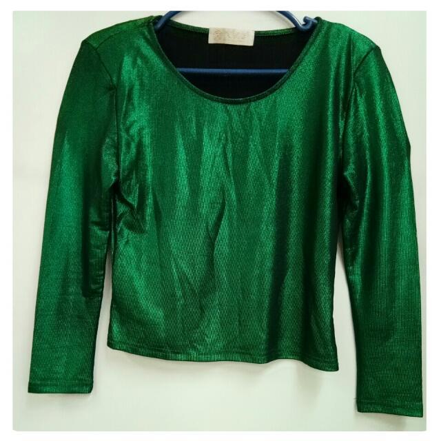 Mettalic Green Top