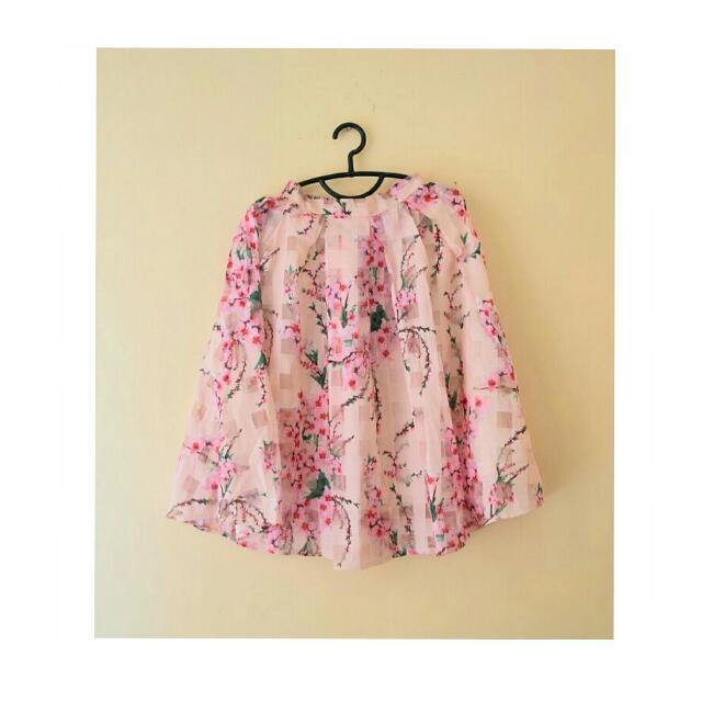 Midi Skirt Motif Sakura