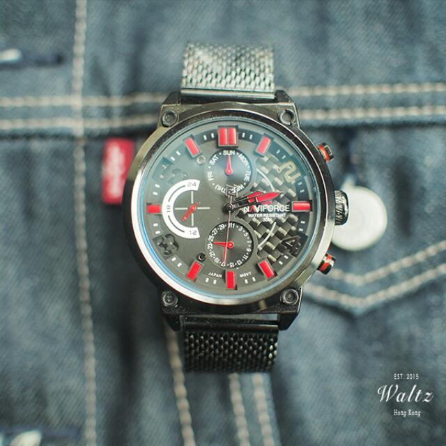 Naviforce Carbon 賽車式手錶