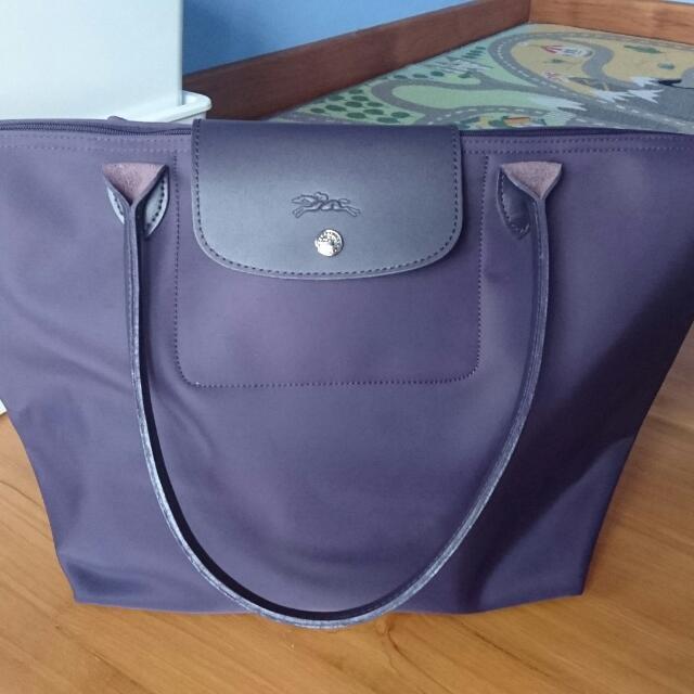 b8136fd5bd2 Authentic Longchamp Le Pliage Neo tote Bag Large (L) 1899 bilberry ...