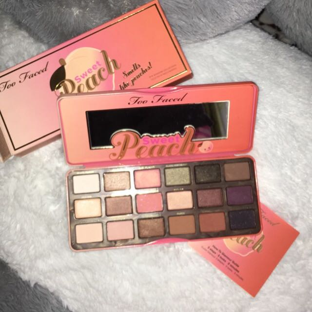 NEW too faced sweet peach palette