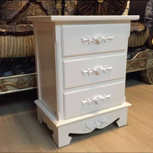 provencal bedside chest drawer white table drawers of