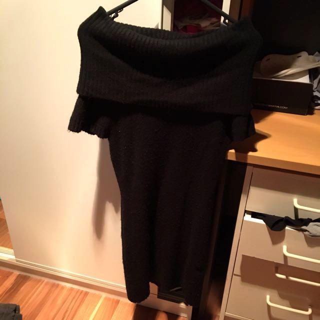 Off Shoulder Dress Knit