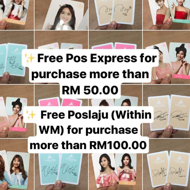 Offer for Twice Photocards ✨
