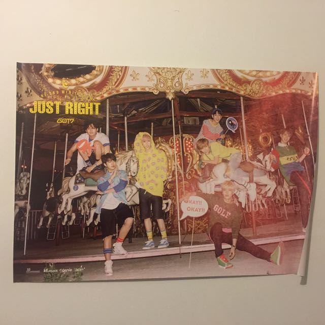 Official GOT7 Just Right Poster